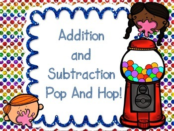 Addition Subtraction Pop and Hop Game 177 Cards!