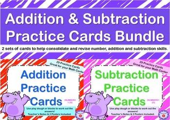 Addition & Subtraction Practice Cards (Bundle)
