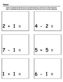Addition & Subtraction Practice Packet