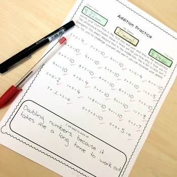 Addition & Subtraction Practice - Timed Tests (Within 100)