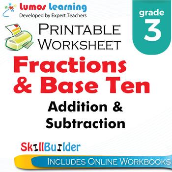 *Addition & Subtraction Printable Worksheet, Grade 3