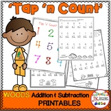 Addition & Subtraction Printables - Woods Tap 'n' Count