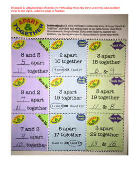 Addition/Subtraction Problem Challenges: Apart and Together - SCISSOR MADNESS!