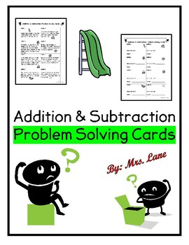 Addition and Subtraction Problem Solving Cards