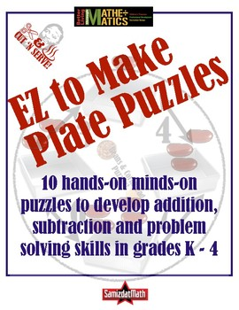 Addition, Subtraction & Problem Solving: EZ 2 Make Plate Puzzles 4 Math Centers!