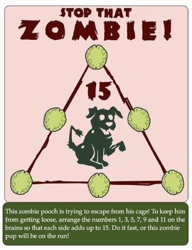 Addition and Subtraction Puzzle: Stop That Zombie!