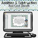 Addition & Subtraction Problem Solving Task Cards Bundle {DIGITAL & Printable}