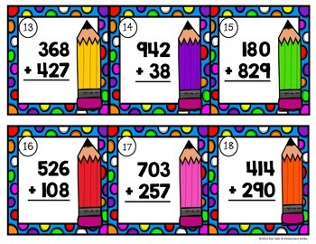 Addition & Subtraction Problems Task Cards Bundle