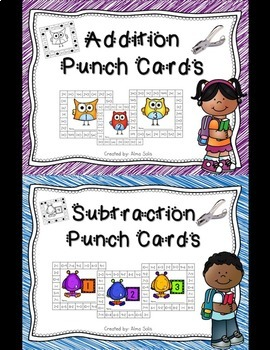 Addition & Subtraction Punch Cards (Bundle)