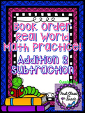 Addition & Subtraction Real-World Practice with Book Orders