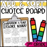 Addition & Subtraction Regrouping Activities - Math Menu,
