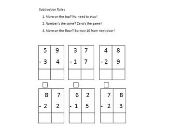 Addition & Subtraction Regrouping Charts