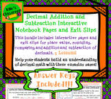 Addition, Subtraction, Rounding, and Comparing Decimals Interactive Notebook