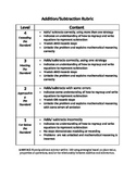 Addition/Subtraction Rubric
