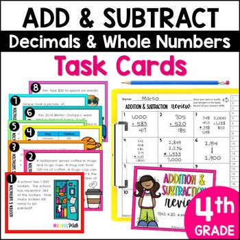 Addition & Subtraction STAAR PREP Task Cards: TEKS 4.4A, 4.4G, 4.10B