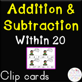 Addition & Subtraction Sentence Clip Cards