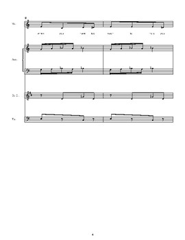Addition/Subtraction Sheet Music with Vocal Line