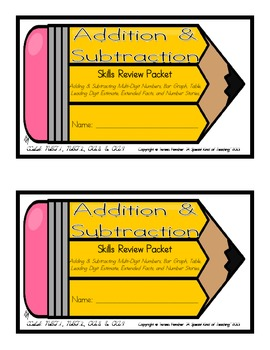 Addition & Subtraction Skills Review Packet {Common Core C
