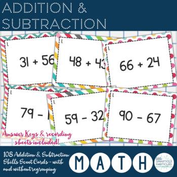 Addition & Subtraction - Skills Scoot