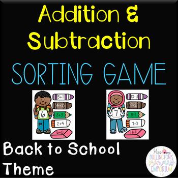 Addition/Subtraction Sorting Game Bundle