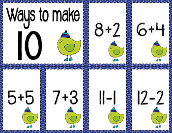 Math Fact Fluency for January (0 to 10)