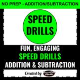 Addition/Subtraction Speed Drills