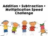 Addition / Subtraction / Mulptiplication Speed Test (Editable)