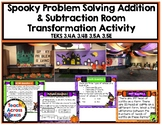 Addition & Subtraction Spooky Problem Solving Activity, 3.4A 3.4B 3.5A 3.5E