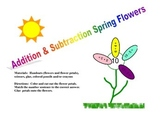 Addition & Subtraction Spring Flowers