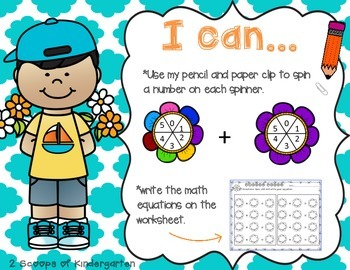 Addition & Subtraction Spring Spinners