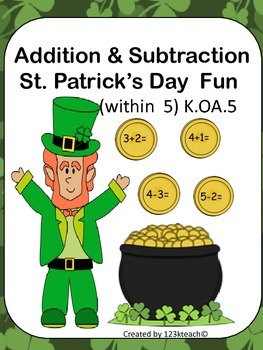 Addition & Subtraction Saint Patrick's Day Fun