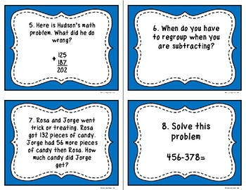 Addition & Subtraction Story Problem Scoot (3 digits with regrouping)