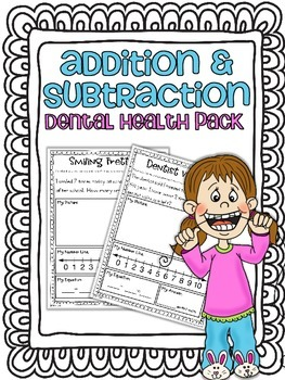 Addition & Subtraction Story Problems {Dental Health Pack}