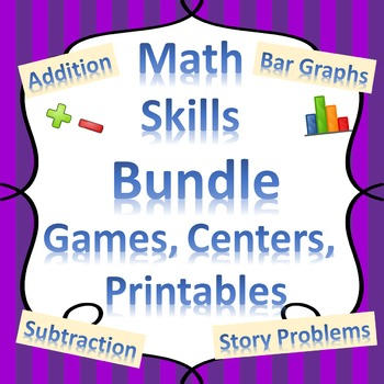 Math Skills Reinforcement, Printables, and Learning Centers BUNDLE