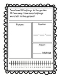 Addition & Subtraction Story Problems, First Grade Version
