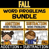 Fall Word Problems (Addition and Subtraction Word Problems)