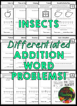 1st Grade Addition Word Problems and 1st Grade Subtraction Word Problems BUNDLE