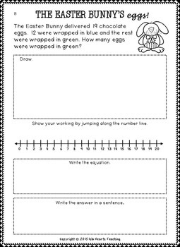 Spring Word Problems (Addition and Subtraction Word Problems - Differentiated)