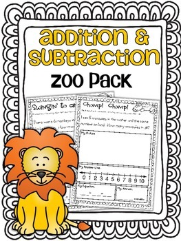 Addition & Subtraction Story Problems {Zoo Pack}