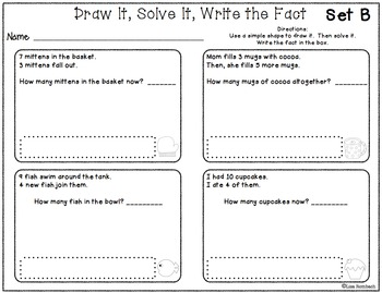 Addition & Subtraction Story Problems (within 20) worksheets