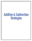 Addition & Subtraction Strategies
