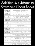 Addition & Subtraction Strategies Mental Math Cheat Sheet