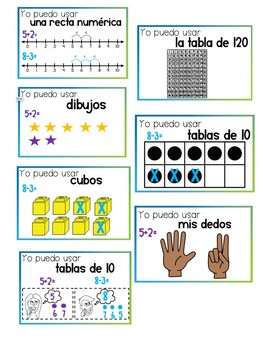 Addition & Subtraction Strategies ( Spanish Resource)