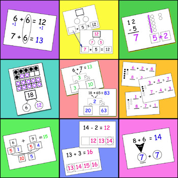 Addition & Subtraction Strategy Practice Cards