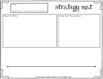 Addition & Subtraction Strategy Mat FREEBIE
