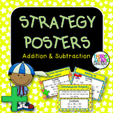 Addition & Subtraction Strategy Posters -- CCSS Grades 3, 4 & 5