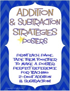 Addition & Subtraction Strategy Posters for 2-digit