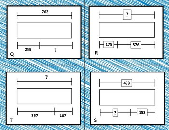 Addition & Subtraction Strip Diagrams Sort and Solve 3.5A