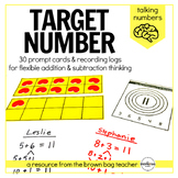 Addition & Subtraction 'Target Number' Prompts: Talking Numbers