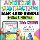 Addition & Subtraction Task Card Bundle